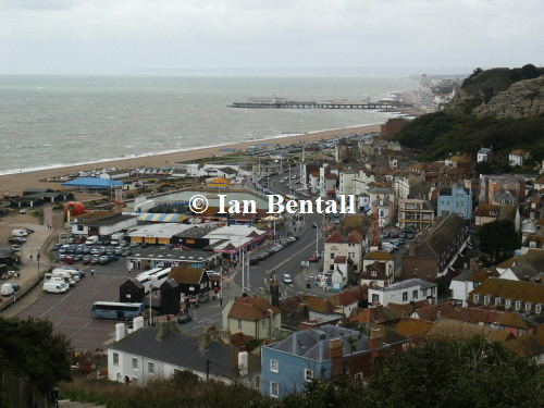 Hastings Seafront from East Hill